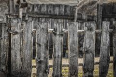 деревянное загородки сельское Стоковое Изображение