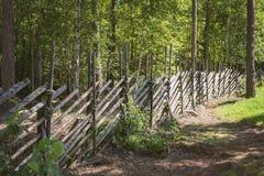 деревянное загородки традиционное Стоковое Изображение