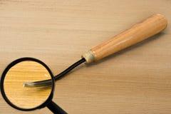 Деревянное зубило на увеличителе для высекать древесину Стоковые Изображения RF