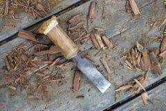 Деревянное зубило Стоковое Изображение
