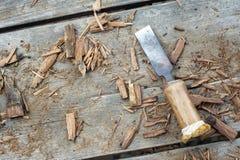 Деревянное зубило Стоковые Фото