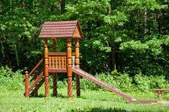 деревянное игры s парка детей установленное Стоковая Фотография