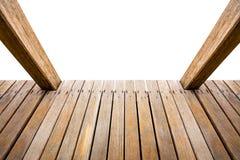 Деревянное изолированное крылечко стоковая фотография