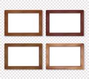 Деревянное квадратное собрание рамки фото вектора Стоковое Фото