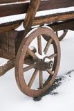 Деревянное колесо тележки Стоковое Изображение RF
