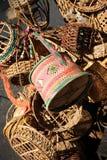 деревянное корзины handmade тайское Стоковое Фото