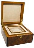 деревянное коробки проложенное внутренностью Стоковая Фотография