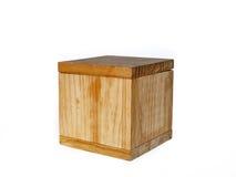 деревянное коробки тяжелое Стоковые Фотографии RF