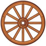 Деревянное колесо иллюстрация вектора