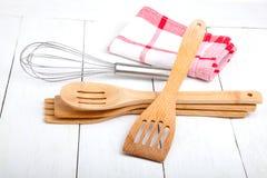 деревянное кухни установленное Стоковая Фотография