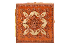 деревянное ларца красное Стоковая Фотография RF