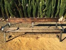 Деревянное место в парке стоковые изображения rf