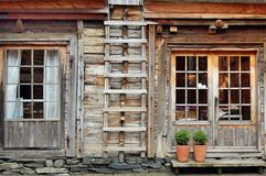 деревянное Норвегии дома bergen традиционное Стоковые Фотографии RF