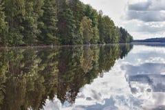 Деревянное озеро Стоковая Фотография RF