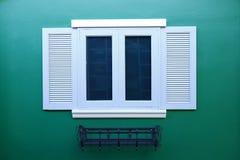 Деревянное окно Стоковое Изображение RF