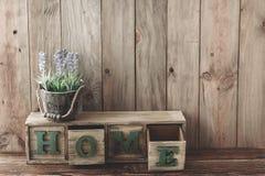 Деревянное домашнее оформление Стоковое Изображение