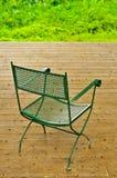 деревянное палубы стула пустое Стоковое Изображение