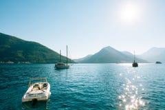 Деревянное парусное судно Черногория, залив Kotor Стоковые Фото