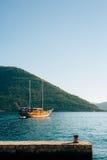 Деревянное парусное судно Черногория, залив Kotor Стоковая Фотография RF