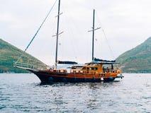 Деревянное парусное судно Черногория, залив Kotor Стоковое Фото