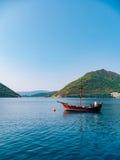 Деревянное парусное судно Черногория, залив Kotor Стоковые Изображения RF