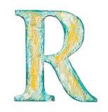Деревянное письмо алфавита Стоковое Изображение