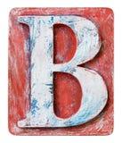 Деревянное письмо b алфавита Стоковая Фотография RF