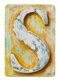 Деревянное письмо s алфавита Стоковая Фотография
