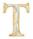 Деревянное письмо t алфавита Стоковые Фотографии RF