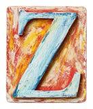 Деревянное письмо z алфавита Стоковая Фотография