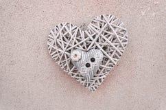 деревянное плетеное heart& x28; Valentine& x27; day& x29 s; Стоковая Фотография