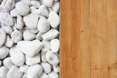 деревянное пола каменное белое Стоковая Фотография