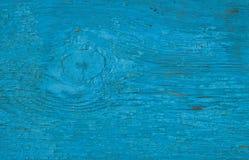 деревянное предпосылки голубое Покрашенная деревянная поверхность доски с отказами Стоковая Фотография