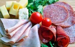 деревянное предпосылки закуски итальянское Стоковые Изображения
