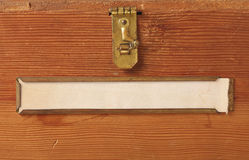 деревянное пустого ярлыка коробки старое Стоковые Фото