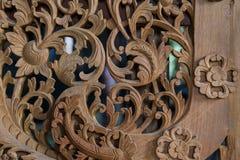 Деревянное резное изображение Таиланда Стоковое фото RF