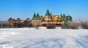 деревянное России дворца mikhailovich aleksey tzar Стоковые Изображения