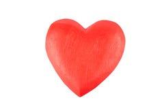 деревянное сердца красное Стоковые Фото