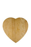 деревянное сердца хлеба доски форменное Стоковое Изображение