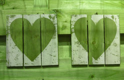 Деревянное сердце Стоковые Изображения RF