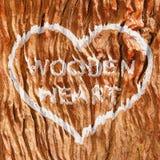 Деревянное сердце Стоковое Изображение