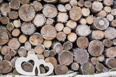 Деревянное сердце 2 Стоковые Фотографии RF