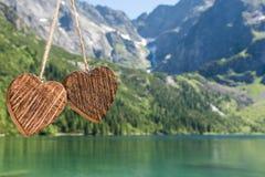 Деревянное сердце 2 Стоковые Изображения RF