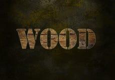 деревянное слово Стоковая Фотография
