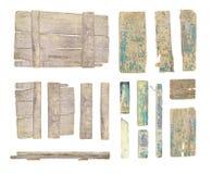 Деревянное собрание доски знака изолированное на белизне Стоковые Фотографии RF