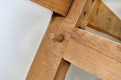Деревянное соединение штыря Стоковая Фотография RF