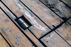 Деревянное соединение пола Стоковая Фотография