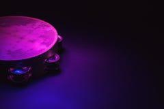 Деревянное тамбурин в студии Стоковое Изображение