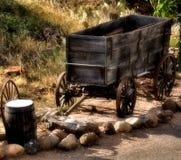 деревянное тележки старое Стоковые Фото