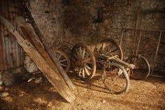 деревянное тележки старое Стоковое фото RF